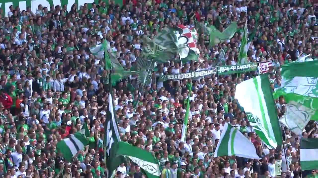 sv werder bremen weser stadion ostkurve die besten fans der welt hd youtube. Black Bedroom Furniture Sets. Home Design Ideas