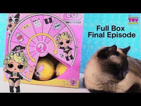 LOL Surprise Full Box #4 Series 3 Wave 2 Confetti Pop Unboxing | PSToyReviews