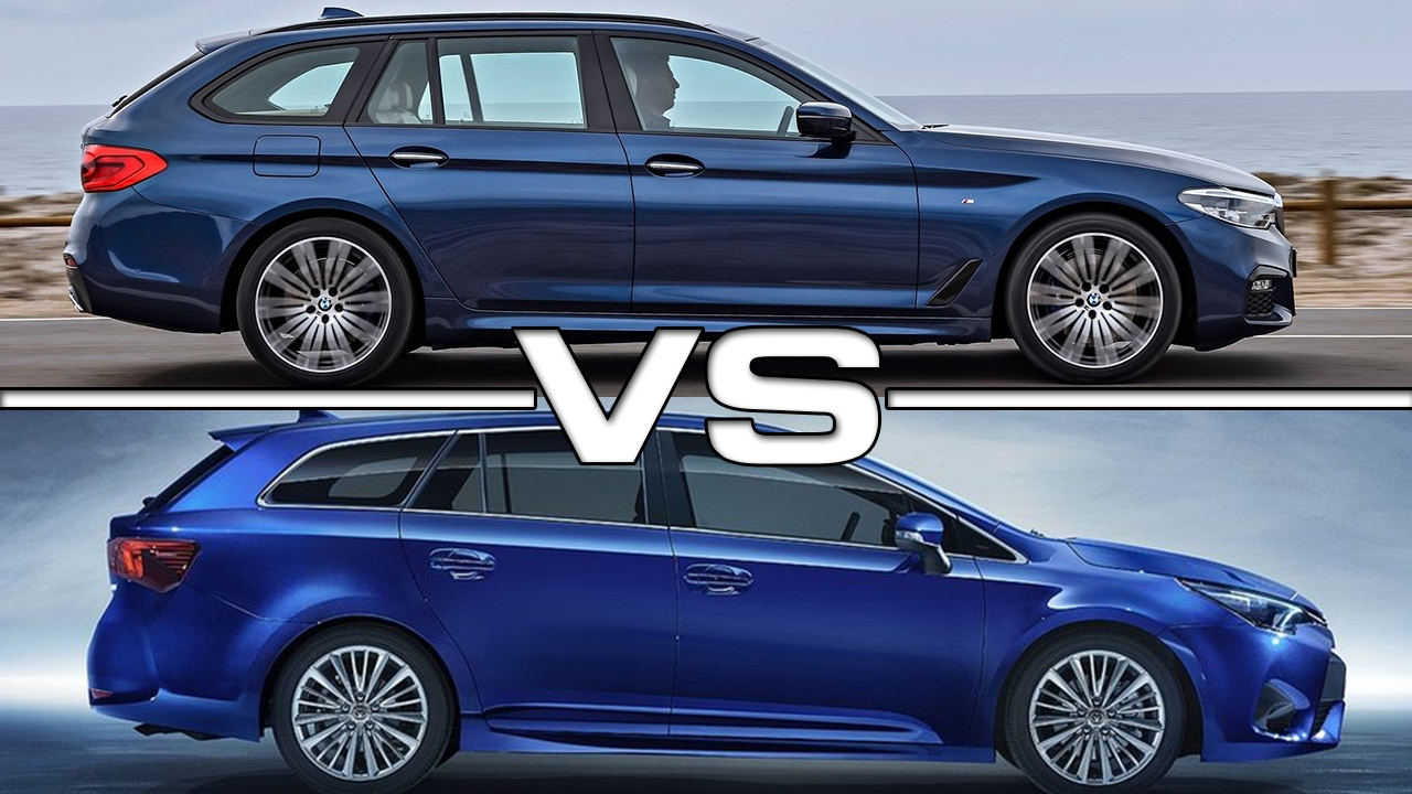 2018 Bmw 5 Series Touring Vs 2016 Toyota Avensis Touring
