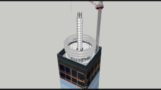 One World Trade Center (Freedom Tower) Animated Construction Time-lapse Fall 2012