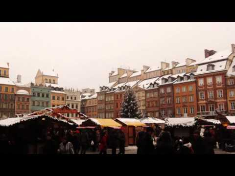 Warsaw Christmas Market and a Dancing Snowman - December 2012