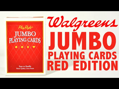 Deck Review - Play Rights Jumbo Playing Cards Walgreens [HD]