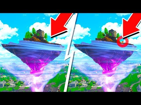 FORTNITE FLOATING ISLAND SPOT THE DIFFERENCE with MY LITTLE BROTHER! (1v1 Battle Royale)