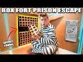 24 HOUR BOX FORT PRISON ESCAPE ROOM!! 📦🚔 Secret Tunnel, SPY GADGETS & More!