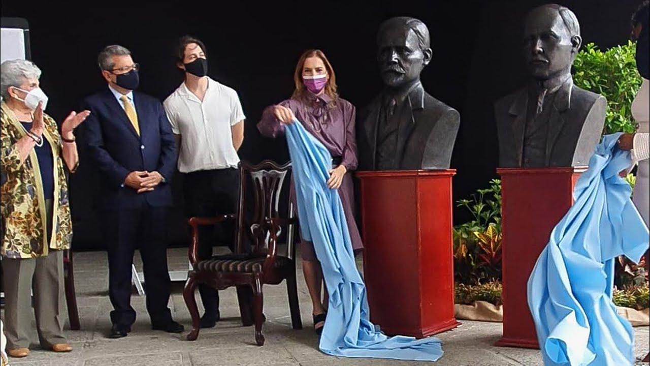 Develación de bustos de Rogelio Fernández Güell y Francisco I. Madero