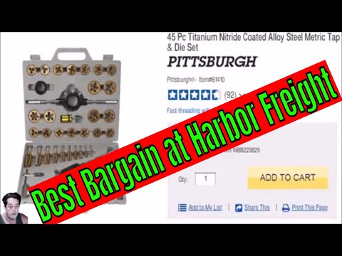 Harbor Freight Tap And Die Set Review And Discussion Youtube