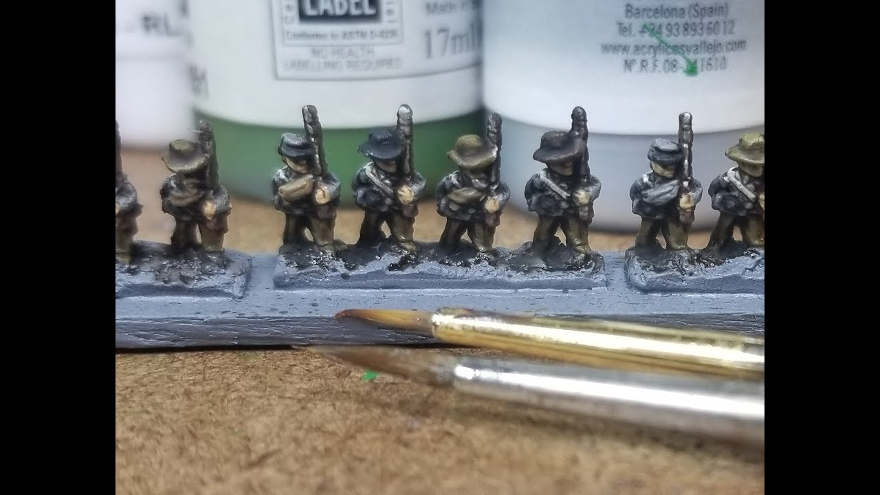Painting Tutorial - Baccus 6mm Confederate Line Infantry - Project