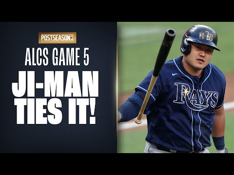 Rays' Ji-Man Choi SMASHES home run, unleashes epic bat flip to tie ALCS Game 5!