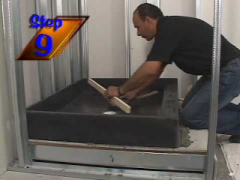 tile ready shower bases and shower pans installation video 2009 youtube. Black Bedroom Furniture Sets. Home Design Ideas