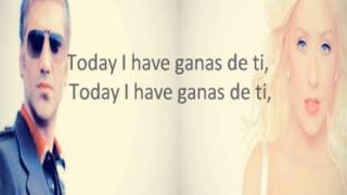 Alejandro Fernadez Ft. Christina Aguilera - Hoy Tengo Ganas De Ti - Lyric In English (Antonio ZF)