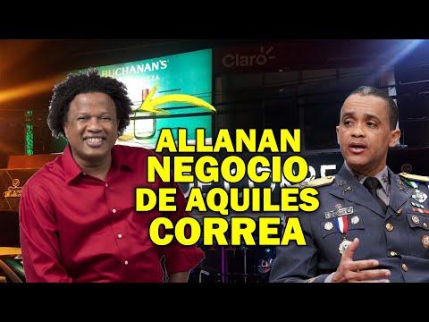 Mira allanan negocio de Aquiles Correa y este arremete contra los agentes sin tener la razón!!!