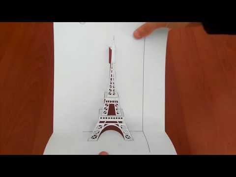Eiffel Tower, Paris pop up card diy / La Torre Eiffel, la carta pop-up parigina, fanno diy