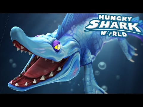 MOSASAURUS EATS ALL!!! - Hungry Shark World   Ep 68 HD