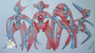 How to draw Pokemon: No. 386 Deoxys