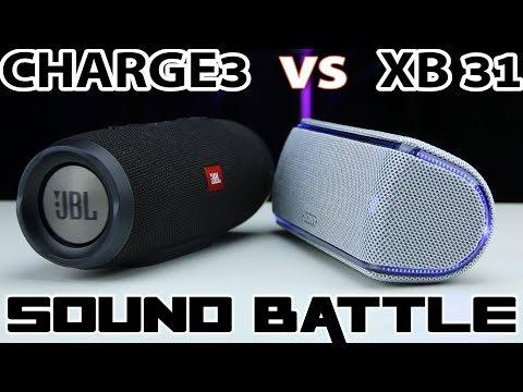 Sony SRS XB31 vs JBL CHARGE 3 : Sound Battle