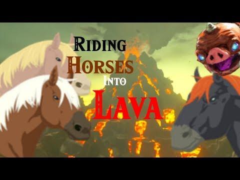 Zelda BotW: Sacrificing Horses to The Lava God