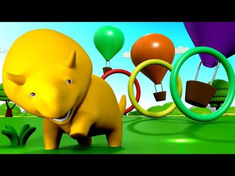 Download Youtube: Aprenda cores e formas + Dino anda de balão - Aprenda com Dino o Dinossauro 👶
