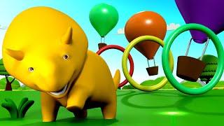 Aprenda cores e formas + Dino anda de balão - Aprenda com Dino o Dinossauro 👶