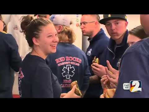 Einstein Bros. Bagels and Channel 2 suprise Red Rocks Community College