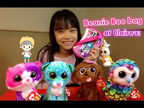Beanie Boo Collection - Ty Beanie Boos bag - Claire s Exclusive - YouTube 61d32050989