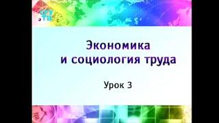 Урок 3. Социология и экономика труда в системе общественных наук
