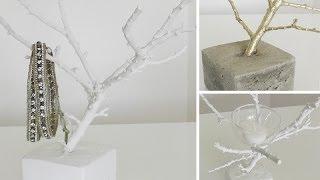 DIY: Deko-Zweig als Schmuckbäumchen oder Teelichthalter selber machen   Deko Kitchen