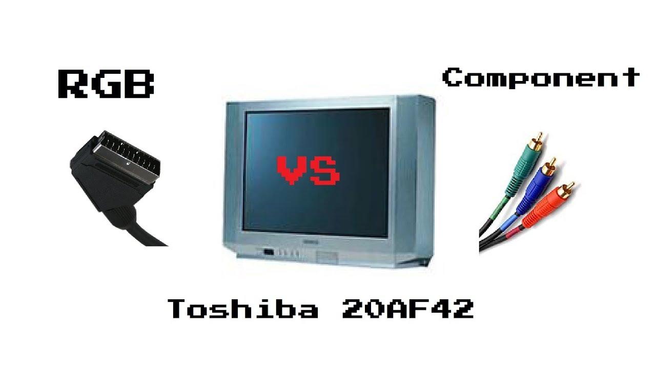 RGB mod VS Component Video on a Consumer Grade TV - YouTube