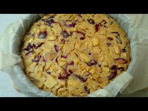 Сливовый пирог с ореховой