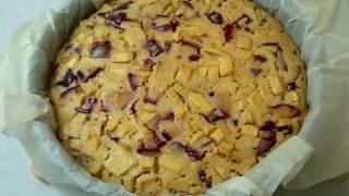 Очень вкусный пирог с яблоками и сливами. Простой рецепт. Как приготовить. Apple Plum Cake Recipe