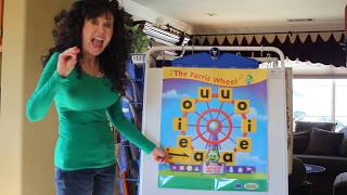 Sing, Spell, Read,and Write Short Vowel Sounds Practice on the Ferris Wheel - Video #2
