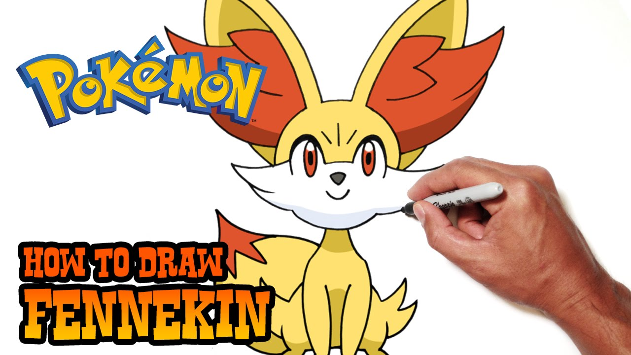 how to draw fennekin pokemon youtube