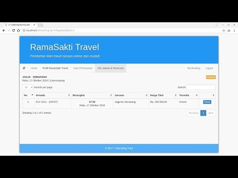 Source Code Aplikasi e-Ticketing Travel (Mirip Web KAI) from YouTube · Duration:  20 minutes 9 seconds