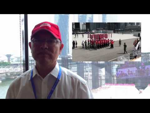 NDP 2012 - Mr Choo Chiau Beng visiting Keppel Corporation Marching Contingent