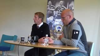 Presskonferensen efter Sundsvall-Östersund
