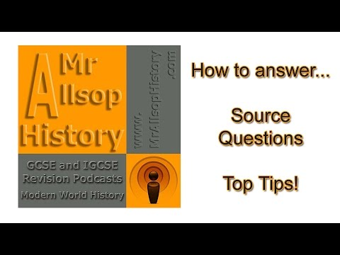 Tips for answering History source questions?