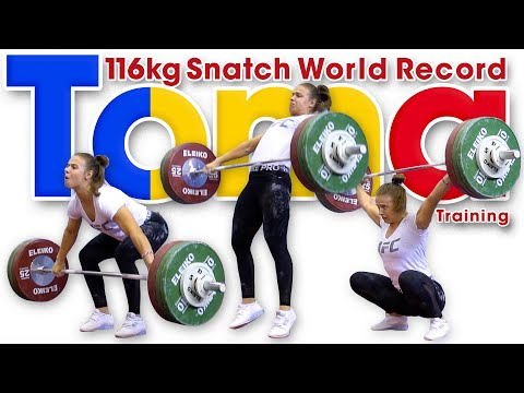 Loredana Toma Sneaky 116kg Snatch World Record Training At 2019 Worlds + The Toma Shuffle!