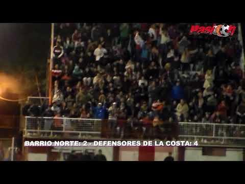 GOLES BARRIO NORTE VS DEFENSORES DE LA COSTA 2018