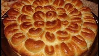 Пирог с мясом Хризантема
