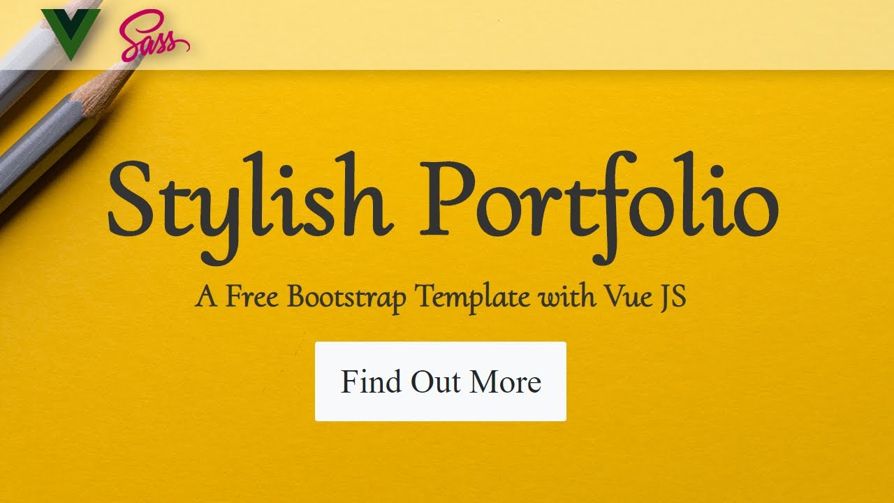 Bootstrap Portfolio Template with Vue JS ❖ Smooth Scrolling