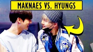 BTS Maknaes VS. Hyungs 😆