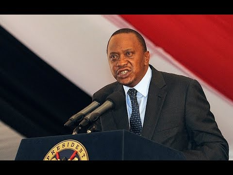 President Uhuru Kenyatta responds,