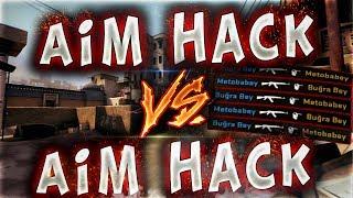 AİM HACK VS AİM HACK TEK ATIYORUM TEK !! (CS:GO)