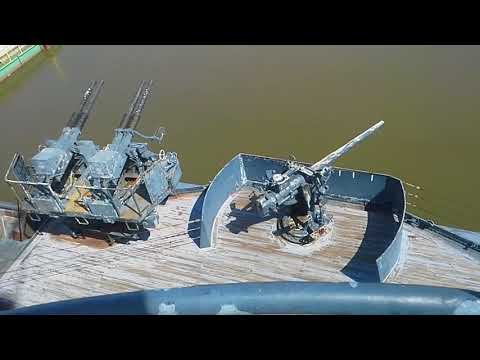 My Trip To The Battleship Texas  (BB 35) In La Porte Texas (Part 1/The Upper Decks)