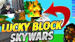 *NEW* LUCKY BLOCK SKYWARS GAMEPLAY on HYPIXEL SKYWARS!