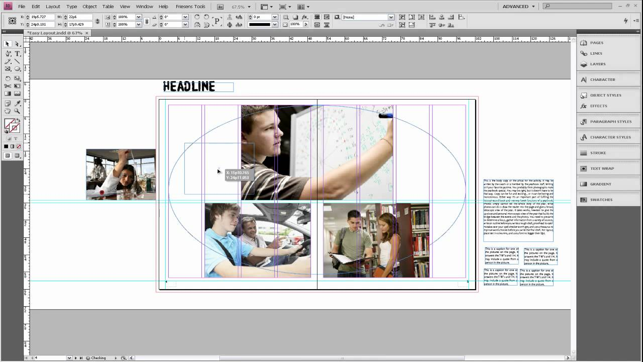 Basic Design Principles for Creating a Simple Yearbook Layout - YouTube