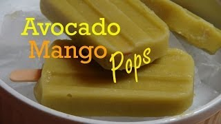 Avocado, Mango And Peach Ice Pops