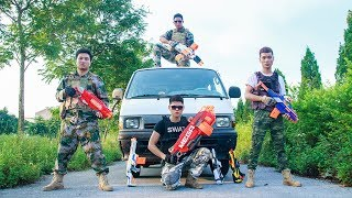 LTT Nerf War : SEAL X Warriors Nerf Guns Fight Attack Criminal Group Hunter League Hight-tech