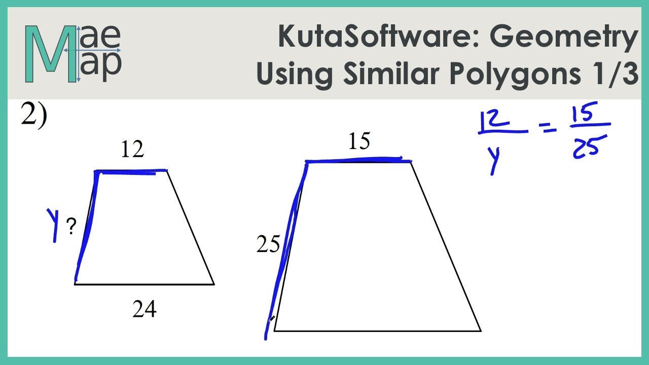 Kutasoftware Geometry Using Similar Polygons Part 1 Youtube