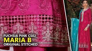 db6960ea0d ... Maria B Collection 2018 - Stitched CS 102 Fuchsia Pink Sateen 2018 -  Pakistani Branded Sara