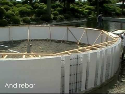 Building tanks for aquaculture form and protect concrete for Concrete fish pond construction and design